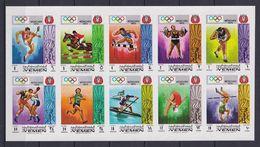 YEMEN 1969, Mi# Bl 903B-912B, Imperf, Sport, Olympics Munich, MNH - Verano 1972: Munich