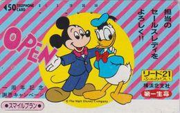 JAPAN  - TC JAPON / 110-64256 Teleca  - DISNEY - DONALD & MICKEY / Accolade ** Série LIDO 21 ** Phonecard - Disney