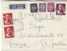 Portugal - Lettre De 1946 - Oblit Lisboa - Exp Vers St Gallen - - Lettres & Documents