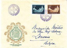 Portugal - Lettre FDC De 1954 - Exp Vers Louvain - Valeur 10 Euros - 1910-... Republic