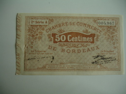 Bordeaux  Chambre De Commerce Billet Necessite  50 C - Chamber Of Commerce