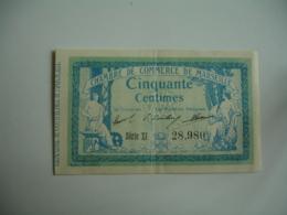 Marseille  Chambre De Commerce Billet Necessite  0,50 - Chamber Of Commerce