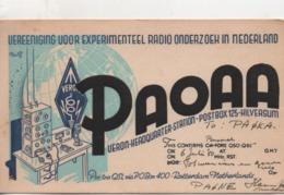 .CPA.Cartes QSL.PAOAA.1950.Veron Headquarter Station.HIlversum.To PAOKA - Radio Amateur