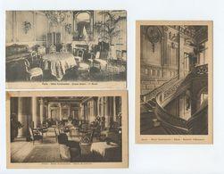 Paris, 3 Cartes Postales, HOTEL CONTINENTAL( 2 Scans ) - Pubs, Hotels, Restaurants