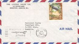 JAMAICA - AIRMAIL 1974 KINGSTON - VIENNA/AT / T220 - Jamaica (1962-...)