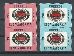 SALVADOR   YVERT  AEREO   381/82   (PAREJA)   MNH  ** - El Salvador