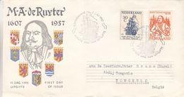 Pays Bas - Lettre FDC De 1957 - Oblit 's Gravenhaghe - Exp Vers Tongerlo - Bateaux - Valeur 15 Euros - Period 1949-1980 (Juliana)
