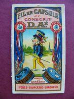 Calendrier Pub Fil En Capsule Au Conscrit  D.A. 1914 Très Rare - Calendriers