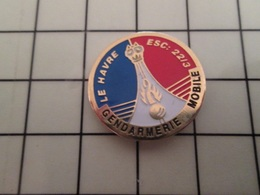 415a Pin's Pins / Rare & Belle Qualité !!! THEME : MILITARIA / GENDARMERIE MOBILE LE HAVRE ESC 22/3 DRAKKAR VIKING - Militair & Leger