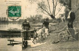 La Lessive à érigné * Murs érigné * 1909 * Lavoir Laveuses Lavandières * Environs D'angers - Autres Communes