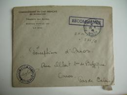 1947 Lot 2 Recommande Cachet Bleu  208  Brureau   Payeur Aux Armees - 1921-1960: Période Moderne