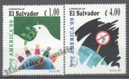 El Salvador 1999 Yvert 1427-28, América UPAEP, New Millenium Without Weapons - MNH - El Salvador
