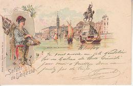 ITALIA - VENEZIA - GRUSS Di Kunzli, Litografica, Animata, Viag.1904 Fran. Caduto - 2020-C-118 - Venezia
