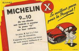 MICHELIN X Le Meilleur Pneu Pour La Peugeot (203 Peugeot) 1950. - Papel Secante