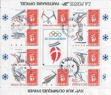 BLOC-BF14-France 1992-Albertvile XVIe Jeux Olympiques D'hiver - Afgestempeld