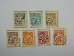Lot Fragments Timbres Téléphone Yvert 22 24 25 26 27 28 29 - Telegramas Y Teléfonos
