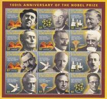 St Vincent, N° 2578 à 2589 En Bloc De 12 (Prix Nobel : Boll, Nansen, ...), Neufs ** - St.Vincent & Grenadines