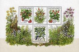 Wald-Beeren 2000 Slovensko Block 14 ** 4€ Himbeere Erdbeere Heidelbeere M/s Hoja Flora Bloc Fruit Sheet Bf Slowakei - Slovacchia