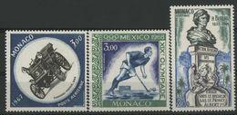 MONACO POSTE AERIENNE N° 91 à 93 Cote 6,25 € Neufs ** (MNH). - Airmail