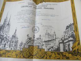 Certificat D'Etudes Primaires/Académie De PARIS/ Départ. EURE & LOIR/Duval JP/Châteaudun /Chartres/1960   DIP234 - Diploma & School Reports