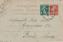ALSACE-LORRAINE 1919   ENTIER POSTAL/GANZSACHE/POSTAL STATIONARY CARTE CENSUREE DE STRASBOURG - Marcofilia (sobres)