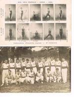 2 CARTES POSTALES - GYMNASTIQUE - ARRAS 1904 - CARTE PHOTO DE GROUPE - - Gimnasia