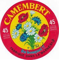 ETIQUETTE DE  FROMAGE  NEUVE  CAMEMBERT MARNE UN BOUQUET  51 J ST JEAN SUR MOIVRE - Signs