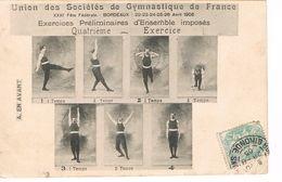 CARTE POSTALE - GYMNASTIQUE - BORDEAUX - 1905 - - Gymnastique