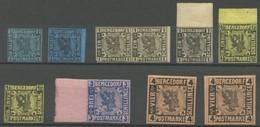 BERGEDORF 1-5 **,* , 1861, Kleines Lot Von 10 Werten, Dabei Mi.Nr. 1b **, Meist Pracht - Bergedorf