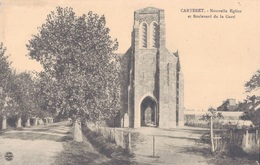 50 - CARTERET / NOUVELLE EGLISE ET BOULEVARD DE LA GARE - Carteret