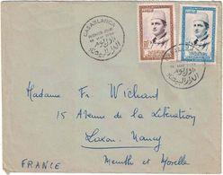 Maroc - Casablanca - Premier Jour 19 Mai 1956 - Lettre Pour La France - Maroc (1956-...)