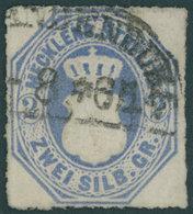 MECKLENBURG-STRELITZ 5 O, 1864, 2 Sgr. Grauultramarin, Segmentstempel NEUBRANDENBURG, Punkthelle Stelle, Sonst Pracht, F - Mecklenburg-Strelitz