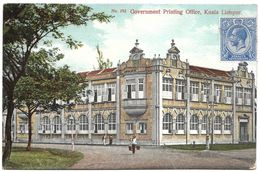 Malaysia (Malacca) – No. 192 – Government Printing Office –  Kuala Lumpur – Year Circa 1920 – With Stamp - Malaysia