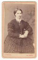 0522 CDV Photo: G. Sawitzki, Danzig - Hübsche Junge Dame Im Rüschen-Kleid, Frau Femme Woman - Fotos