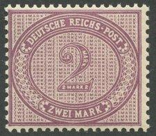 Dt. Reich 37aND **, 1899, 2 M. Violettpurpur, Postfrisch, Farbfrisches Kabinettstück, Gepr. Pfenninger Und Fotoattest Jä - Germany