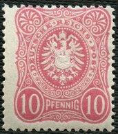 Dt. Reich 41ab **, 1880, 10 Pf. Eosin, Postfrisch, Pracht, Attestkopie Wiegand Eines Ehemaligen Viererblocks, Mi. 80.- - Germany