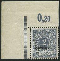 OST-SACHSEN 52SP **, 1945, 10 Pf. Grau, Aufdruck Specimen, Linke Obere Bogenecke, Pracht, Fotoattest Jäschke Eines Ehema - Germany