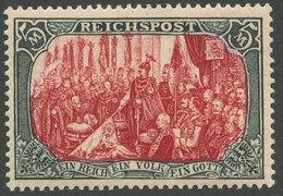 Dt. Reich 66II *, 1900, 5 M. Reichspost, Ehemalige Type V, Kleine Vorderseitige Schürfstelle Sonst Pracht, Fotobefund Jä - Germany