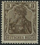 Dt. Reich 84IIb **, 1918, 3 Pf. Schwärzlichbraun Kriegsdruck, Pracht, Gepr. Jäschke, Mi. 70.- - Germany