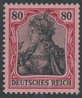 Dt. Reich 93IIa **, 1918, 80 Pf. Karminrot/rotschwarz Auf Hellrosa Kriegsdruck, Postfrisch, Pracht, Gepr. Dr. Hochstädte - Germany