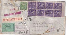 USA 1939 LETTRE  RECOMMANDEE DE JANESVILLE  PERFORE/PERFIN - Etats-Unis