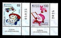 Serbia 2016: Europa - Old Toys, MNH** - 2015