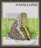 Bénin BF N° 29J  O  Faune : Papillons, Le Bloc  Oblitération Légère, TB - Bénin – Dahomey (1960-...)