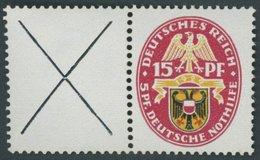 ZUSAMMENDRUCKE W 36 **, 1929, Nothilfe X + 15, Pracht, Mi. 70.- - Zusammendrucke