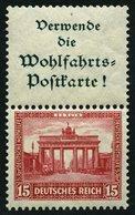 ZUSAMMENDRUCKE S 84 *, 1930, Nothilfe A1.3 + 15, Falzreste, üblich Gezähnt Pracht, Mi. 90.- - Zusammendrucke
