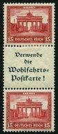 ZUSAMMENDRUCKE S 87 *, 1930, Nothilfe 15 + A1.3 + 15, Falzreste, Feinst, Mi. 300.- - Zusammendrucke