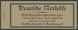 ZUSAMMENDRUCKE MH 29.4 **, 1930, Markenheftchen Nothilfe, Nicht Durchgezähnt/durchgezähnt, Pracht, Mi. 450.- - Zusammendrucke