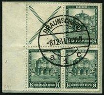 ZUSAMMENDRUCKE S 94 BrfStk, 1931, Nothilfe X + 8, Prachtbriefstück, Mi. (380.-) - Zusammendrucke