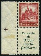 ZUSAMMENDRUCKE S 98 **, 1931, Nothilfe 15 + A1.2, Pracht, Mi. 320.- - Zusammendrucke
