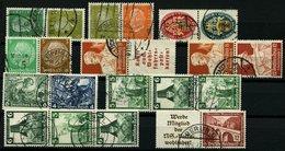ZUSAMMENDRUCKE A. S42-W127 O, 1932-37, 10 Verschiedene Gestempelte Zusammendrucke, Fast Nur Prachterhaltung, Mi. 195.- - Zusammendrucke